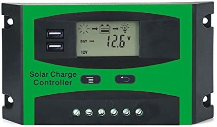 SODIAL 30A 12V 24V Solarregler LCD Funktion Dual USB 5VDC Ausgang Solarzellen Panel Batterieladeregler