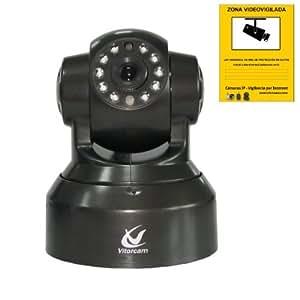Camara IP de videovigilancia slot micro sd TF grabacion graba para video vigilancia wifi P2P DDNS de forma autonoma gratis regalo cartel zona vigilada