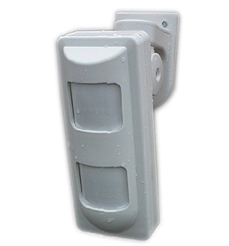 Detector de movimiento dual ARBUYSHOP atado con alambre al aire libre PIR + Microondas alarma con la cortina de la lente para el sistema de alarma GSM PSTN ...