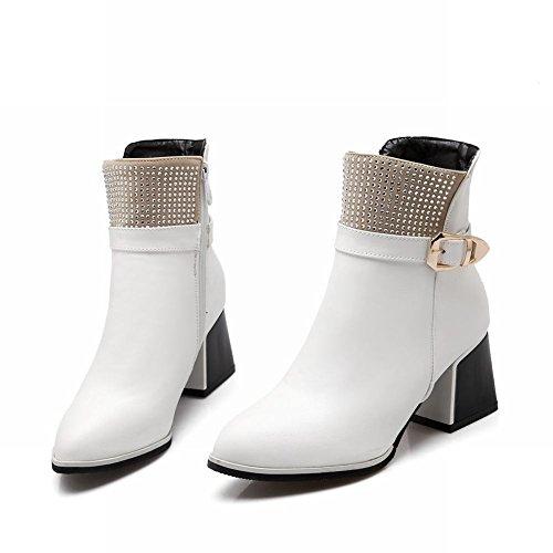 Stivaletti Alla Caviglia Con Cinturino Alla Caviglia E Fibbia In Metallo Con Tacco Medio