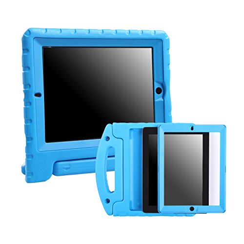 - HDE Case for iPad 2 3 4 Kids Shockproof bumper Hard Cover Handle Stand with Built in Screen Protector for Apple iPad 2nd 3rd 4th Generation (Blue)