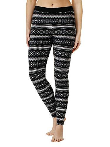 ClimateRight by Cuddl Duds Women's Stretch Fleece Warm Underwear Leggings / Pants (M, Fair Isle)