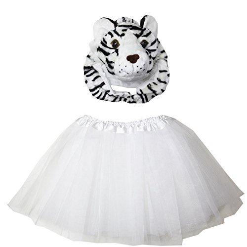 Kirei Sui Kids Costume Tutu Set 4-7Y White (Kids White Tiger Costumes)