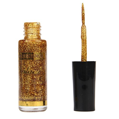Gold Finished Holder Pen (Anboo Nail Art Glitter Nail Polish Strokes Manicure Nail Polish Painting Pen (Gold))