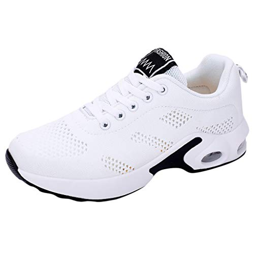 - KESEELY Mesh Sports Shoes for Daily,Women Summer Casual Firness Student Running Shoes White