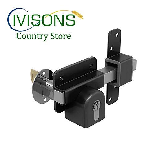 GATEMATE Long Throw Euro GATE SHED Garage Door Lock 5 Keys Fitting KIT (50 mm Lock from Both Sides)