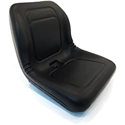(1) New Black HIGH BACK SEAT for Hustler ZTR Zero Turn Lawn Mower Garden Tractor by The ROP Shop