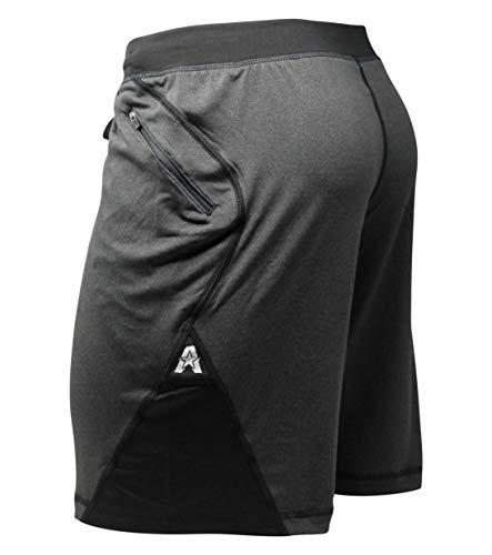 """Anthem Athletics 9"""" Isoflex Crossfit Workout Training Gym Shorts - Volcanic Black - Large"""