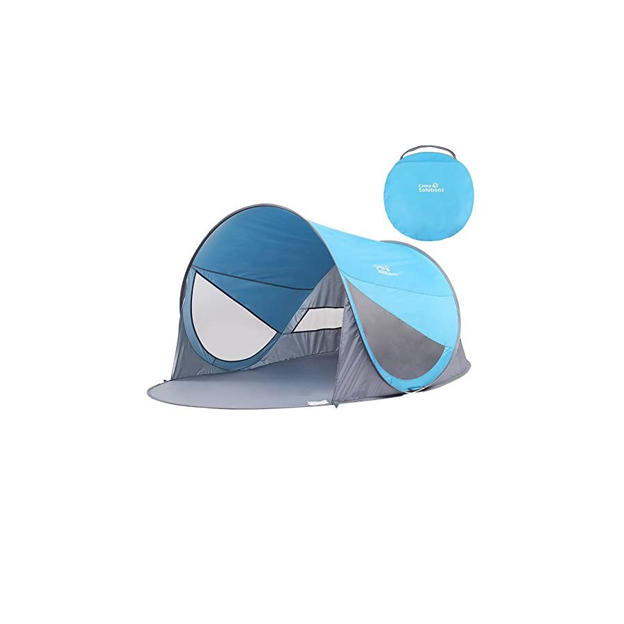 Camp Solutions Automatic Pop Up Instant Portable Outdoors Quick Beach Tent Sun Shelter