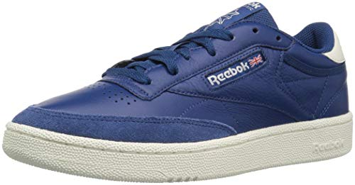 Reebok Men's Club C 85 Walking Shoe, TRC-Bunker Blue/Chalk, 7.5 M US