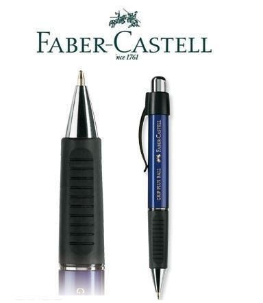 Faber-castell Grip Plus Ballpoint Pen Metallic Blue