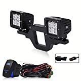 64 dodge dart accessories - TURBOSII Universal Tow Hitch Mount Bracket With Dual 3x3 LED Pods Cube As Backup Reverse Rear Search Lights For Off-Road Truck SUV Trailer RV