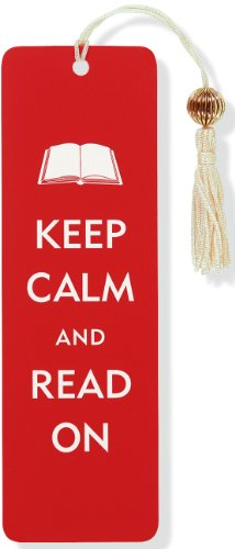 Keep Calm & Read On Beaded Bookmark