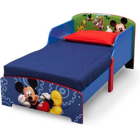 Amazon Disney Mickey Mouse Wood Toddler Bed 30W X 535D 25H Baby