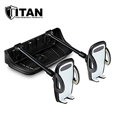 Titan Multi-Purpose Dash Mount - Includes 2 Cell Phone Holders - Fits Jeep JK Models 2011-2020 - Rugged and Secure: Automotive
