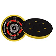 Valianto 6-inch Hook&Loop Backing Pads Polishing Disc with 6 Hole, Pack of 5PCS