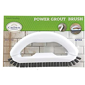 Grout Cleaner Brush with Stiff Angled Bristles. Best Scrub Brushes for Shower Cleaning, Scrubbing Floor Lines and Tile Joints | Bathroom, Showers, Tiles, ...