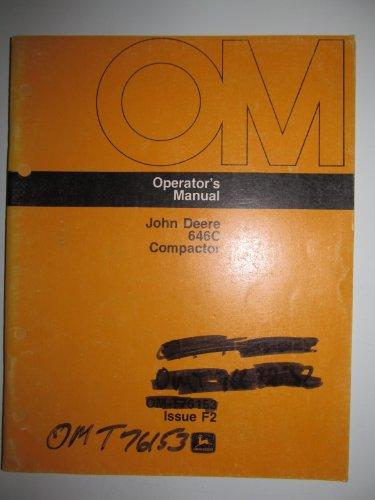 John Deere 646C Compactor Operators Owners Manual OMT76153 F2 Original
