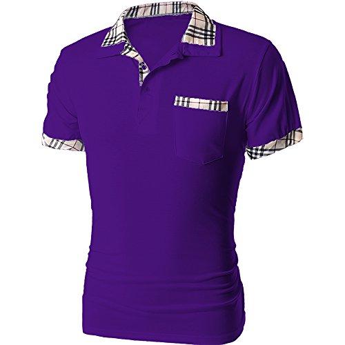 (トレジャーボックス) Treasure Box ゴルフウェア メンズ ポロシャツ 半袖 チェック