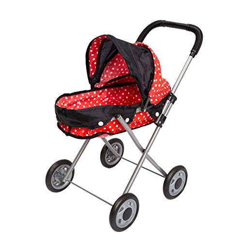 JOYIN Baby Doll Stroller Classic Pram with Swiveling Wheels for Pretend Play, Babies, Infants, Toddlers, and Kids