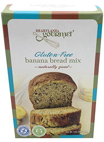 - Heartland Gourmet Gluten Free Banana Bread Mix - Soft and Moist - Certified Gluten Free Ingredients - All Purpose - Safe for Celiac Diet