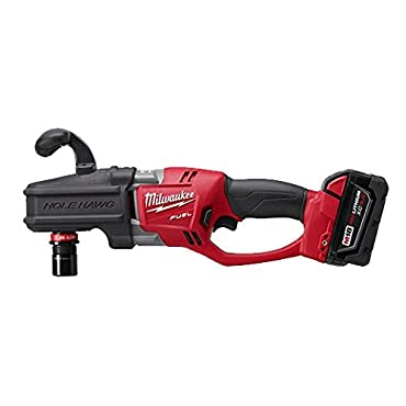 Milwaukee 2708-22 M18 FUEL 18-Volt Hole Hawg Right Angle Drill w / Batteries
