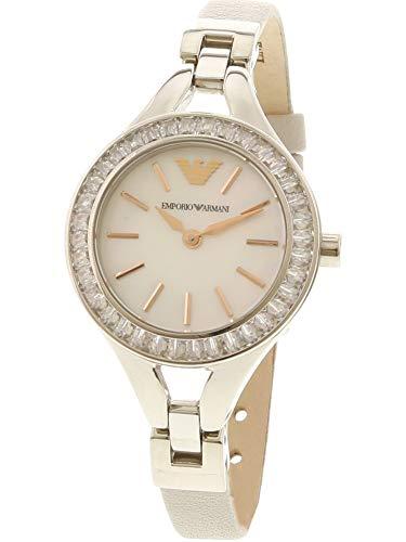 Emporio Armani Women's AR7426 Dress Grey Leather Quartz Watch