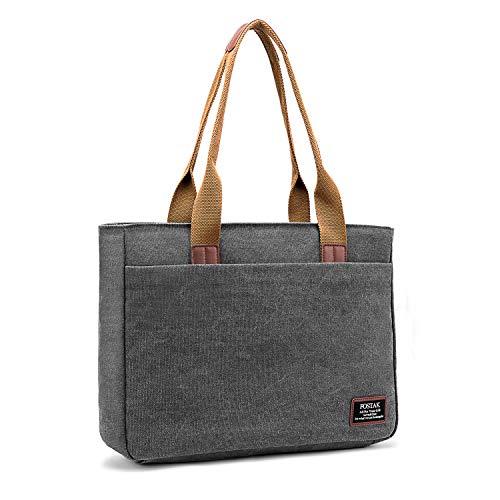 - DTBG Laptop Tote Bag, 15.6 Inch Women Shoulder Bag Canvas Briefcase Casual Handbag Laptop Case for 15-15.6 Inch Tablet/Ultra-Book/MacBook/Chromebook(Dark Grey
