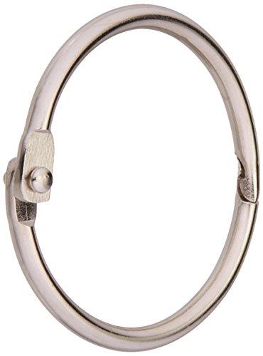 CLEARSNAP Clear Scraps CHR114 1-1/4-Inch Chrome Book Ring, 100 Per Bag