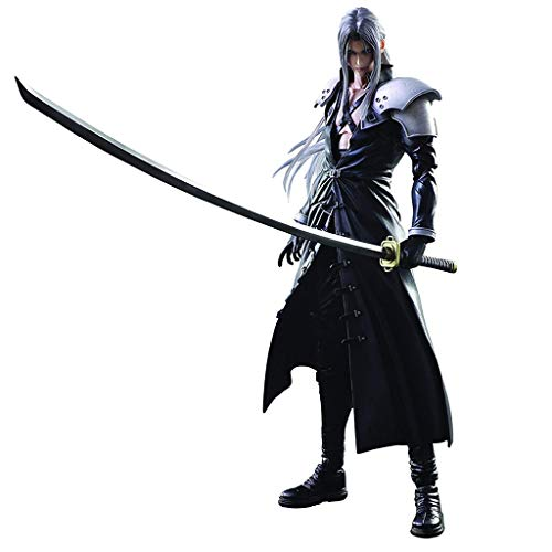 - Siyushop Final Fantasy Advent Children: Sephiroth Play Arts Kai Action Figure - Sephiroth Action Figures - Equipped with Weapons, Wings and Replaceable Hands - High 27CM