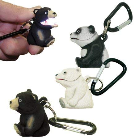 Sun Company Wildlight Animal Carabiner Flashlight | Animal Keychain Lights  (Polar Bear)