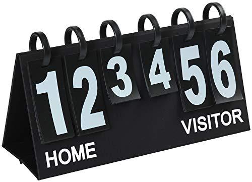 """Upstreet Portable Scoreboard Flipper - Score Keeper Flips up to 99"""" (Black, White)"""