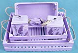 shabby chic kitchens Kitchen set Provence style France decorative serving trays Lavender Shabby Chic Kitchen Wedding Set housewarming gift wood serving tray