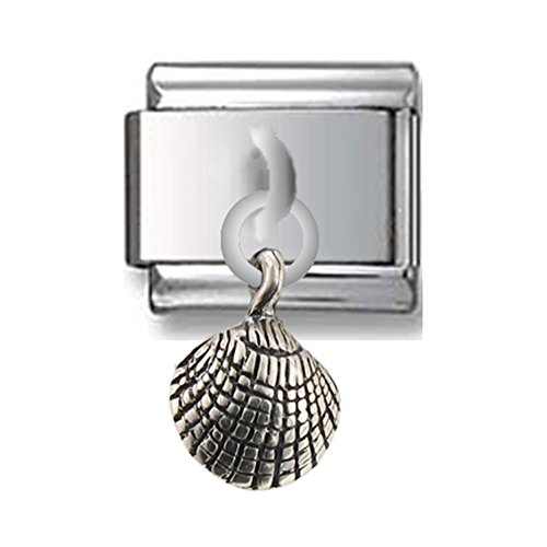 (Sea Shell Sterling Silver Italian Charm)