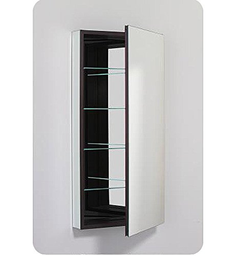 Robern PLM2040WBLE PL Series 19 1/4-Inch Wide by 39 3/8-Inch High Left-Hinge Flat Beveled Mirrored Door, ()