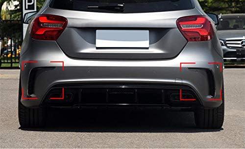 HOTRIMWORLD Black Rear Bumper Spoiler Air Vent Cover Trim for Mercedes-Benz A Class W176 A180 A200 A45 AMG 2016-2018