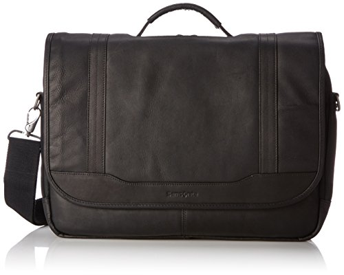 Samsonite Colombian Leather Flapover Briefcase, Black