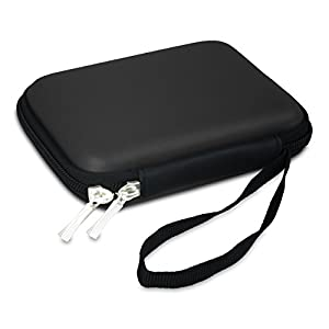 "IOKHEIRA EVA Shockproof External Hard Drive Carrying Case Potable USB Data Cables Travel Bag Lightweight Waterproof Storage Box (2.5"" Black)"