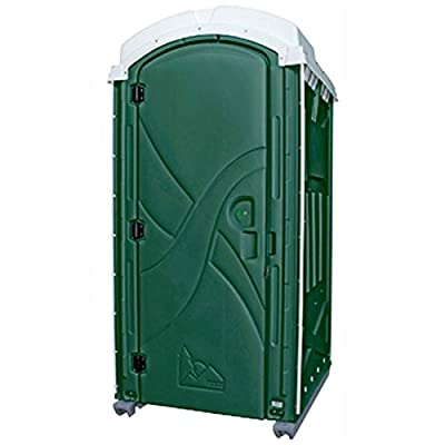 "PolyPortables PPAX-06, Axxis Portable Restroom, Green, 47""L x 43""W x 92""H"