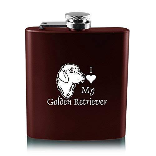 素晴らしい品質 6オンスステンレス鋼フラスコ I – My I Love My retriever-burgundy Golden retriever-burgundy B013RU56Y4, 牧草本舗【うさぎのエサ通販】:39eb37b3 --- workflow.officeporto.com