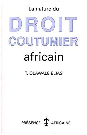 Book's Cover of La nature du droit coutumier africain (Français) Broché – 11 juillet 2000