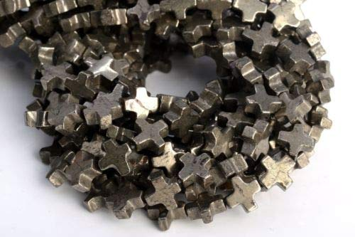 8x8mm Copper Pyrite Cross Grade Natural Gemstone Loose Beads 7.5'' Crafting Key Chain Bracelet Necklace Jewelry Accessories Pendants