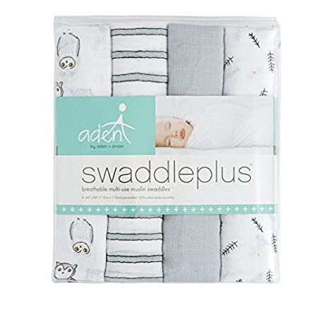 Amazon.com: Aden by aden + anais Swaddle 4 Pack, Hoot Hoot: Baby