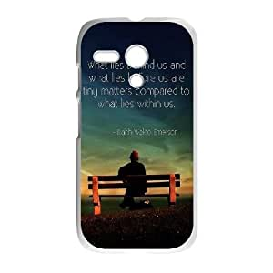 Motorola G Cell Phone Case White quotes sayings 11 R3M7KN