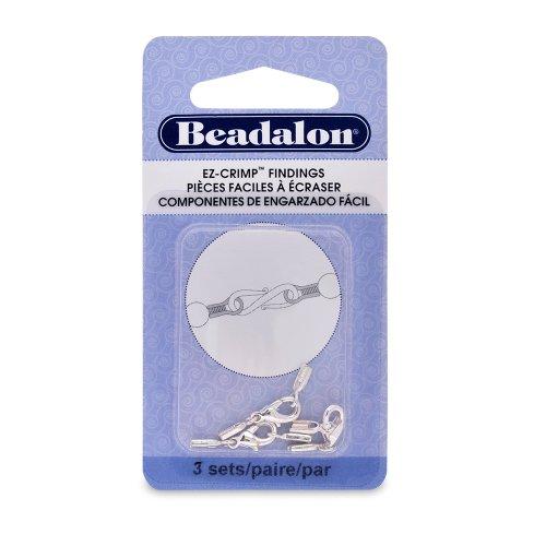 Beadalon EZ-Crimp Lobster Nickel Free Silver, Plated, 3-Set ()