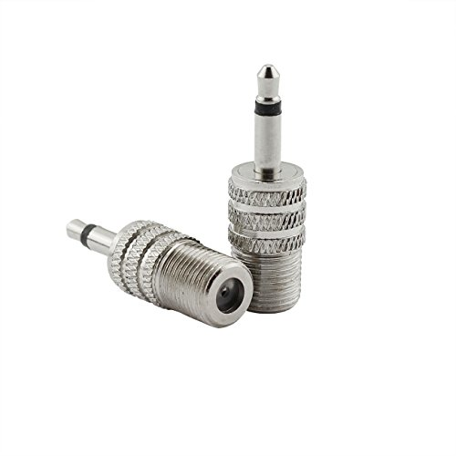 (E-outstanding 2Pcs F-Type Female Jack to 3.5mm 1/8