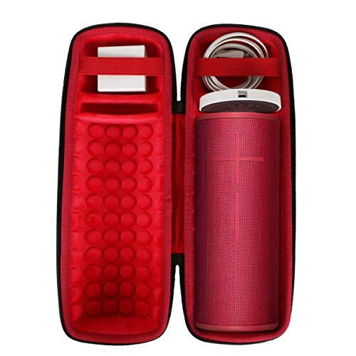 co2crea Hard Travel Case for Ultimate Ears UE MEGABOOM 3 Portable Bluetooth Wireless Speaker (Sunset Red case for Speaker and Charging Dock)