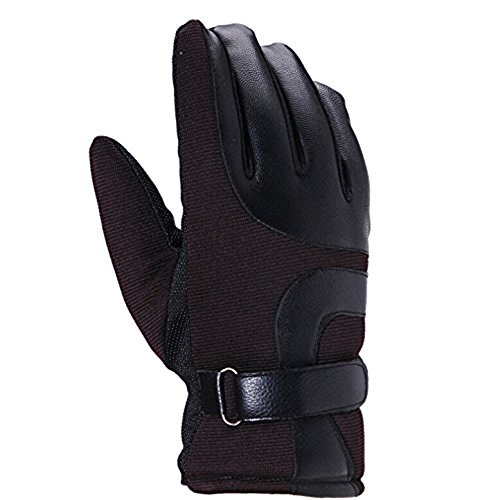 Natuworld Men's Windproof Cold-proof Winter Warm Outdoor Sports Gloves Touchscreen Gloves Driving Cotton Gloves Cycling Motorcycle Ski Gloves Tex Finger Gloves
