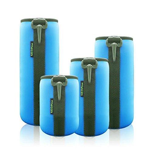 4 Pack Neoprene Camera Lens Protective Bag Lens Pouch Kits (Neoprene Lens Case)