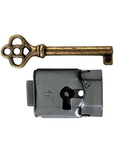 Polished Steel Full-Mortise Drawer or Cabinet (Full Mortise Cabinet Lock)